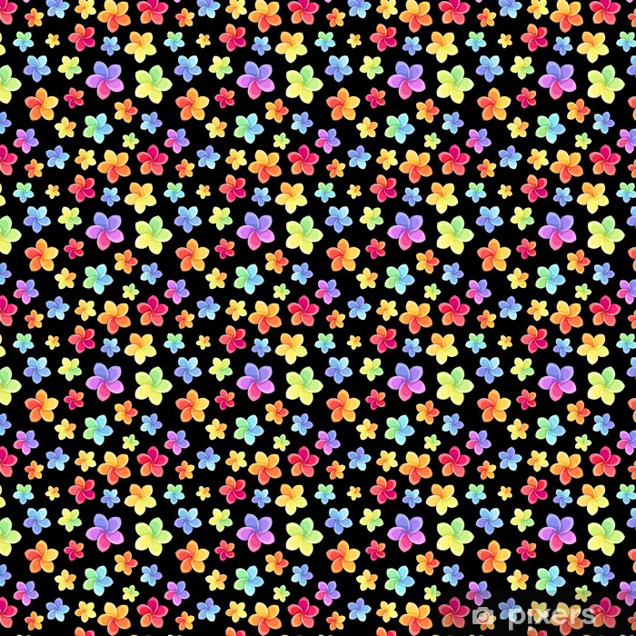 Vinylová tapeta na míru Bezešvé vzor s barevnými květy. Vektorové ilustrace. - Květiny