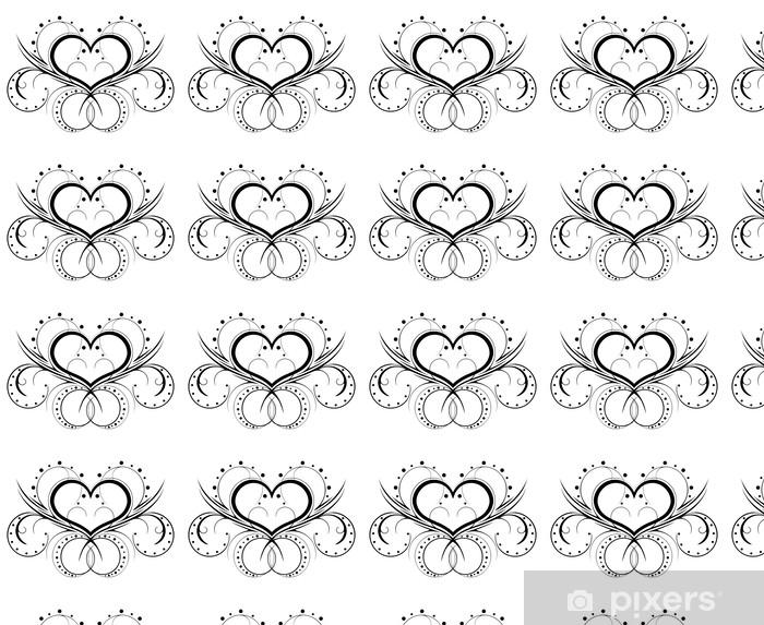 Vinyltapete nach Maß Feminine Tattoo in einem Muster auf weißem Hintergrund - Zeichen und Symbole