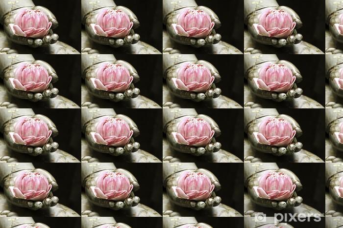 Vinylová tapeta na míru Růžový lotos v ruce buddhy - Náboženství a duchovno