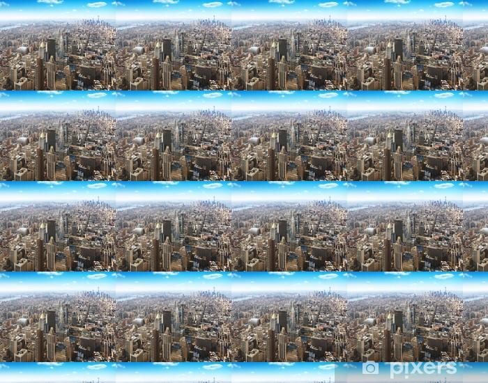 Papier peint vinyle sur mesure New York City vue aérienne - Villes américaines