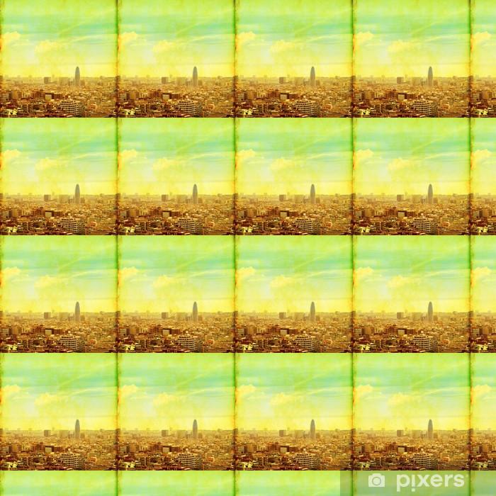 Tapeta na wymiar winylowa Grunge obraz Barcelona pejzaż. - Tematy
