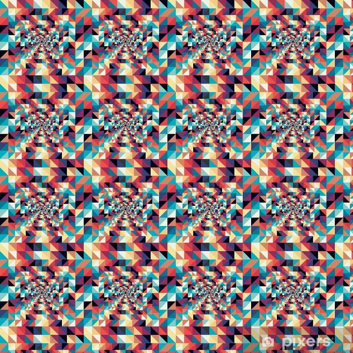 Vinyl behang, op maat gemaakt Kleurrijke retro abstracte visuele effect naadloos patroon. - Kunst en Creatie