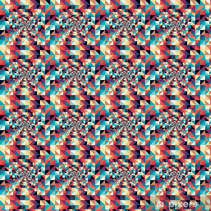 Colorful retro abstract visual effect seamless pattern. Vinyl custom-made wallpaper - Art and Creation