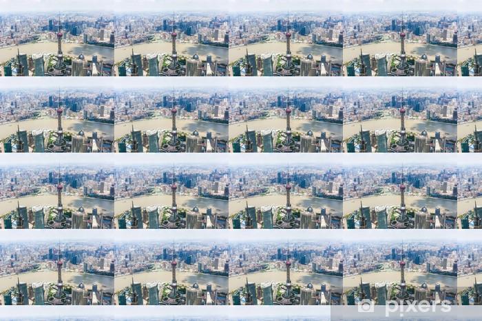 Papier peint vinyle sur mesure Paysage urbain de Shanghai - Villes d'Asie