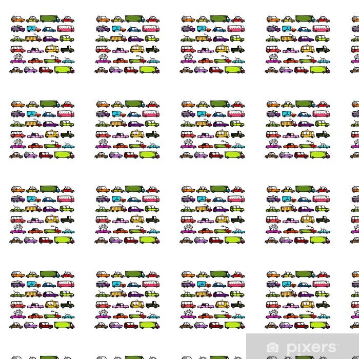 Papier peint vinyle sur mesure Ensemble de collecte de voitures pour votre conception - Sur la route