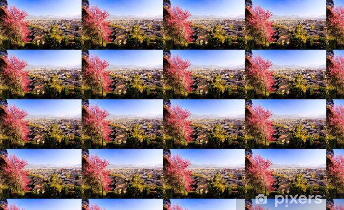 Tapeta na wymiar winylowa Punkt widzenia starego miasta Lijiang - Pejzaż miejski