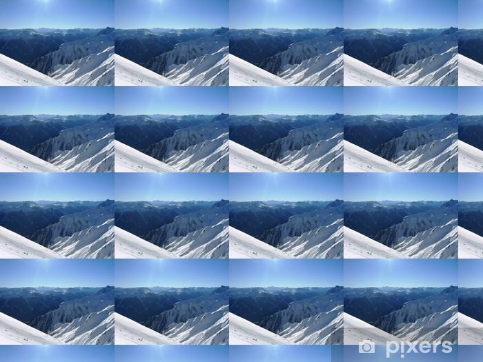 Papier peint vinyle sur mesure Station de ski de Serfaus - Vacances