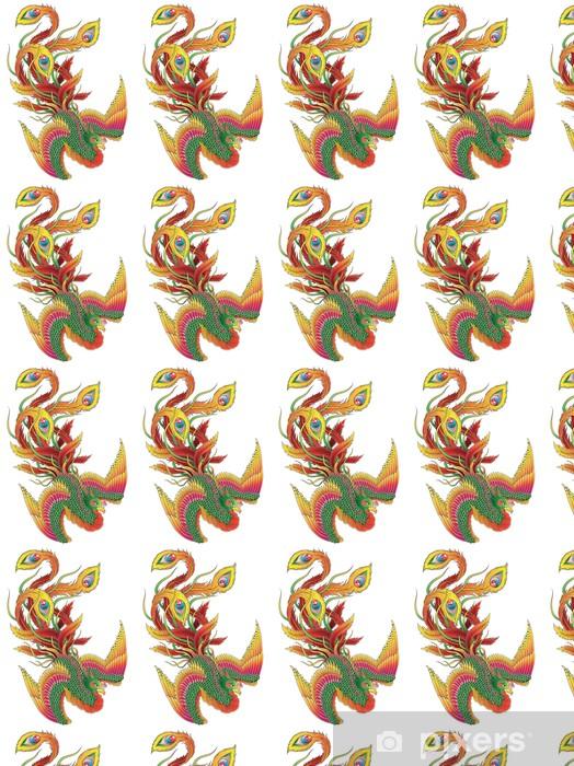 Vinyl behang, op maat gemaakt Japanese Style Phoenix - Religie