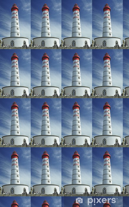 Vinyl behang, op maat gemaakt Detail Lighthouse Saint-Mathieu, Bretagne. Frankrijk - Infrastructuur