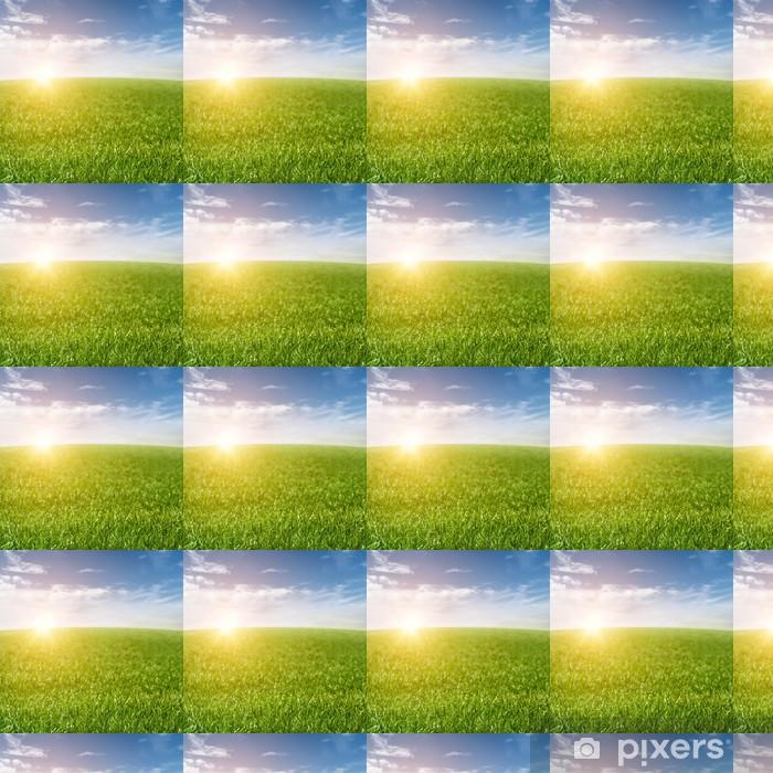 Papier peint vinyle sur mesure Contexte Grass Field - Campagne