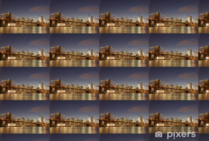 Vinylová tapeta na míru Brooklynský most New York City - Brooklynský Most