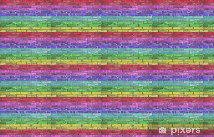 rainbow brick Vinyl Custom-made Wallpaper - Themes