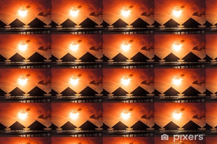 Vinylová tapeta na míru Západ slunce na ostrově Maledivy, vodní Villas Resort - Oceánie