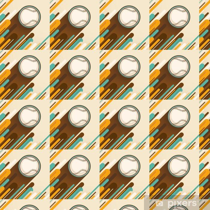 Vinylová tapeta na míru Modern_baseball_illustration. - Sportovní potřeby