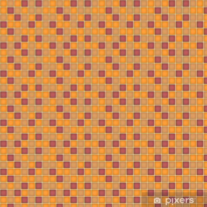 Papier peint vinyle sur mesure Motif de la place géométrique, Orange, Violet - Arrière plans
