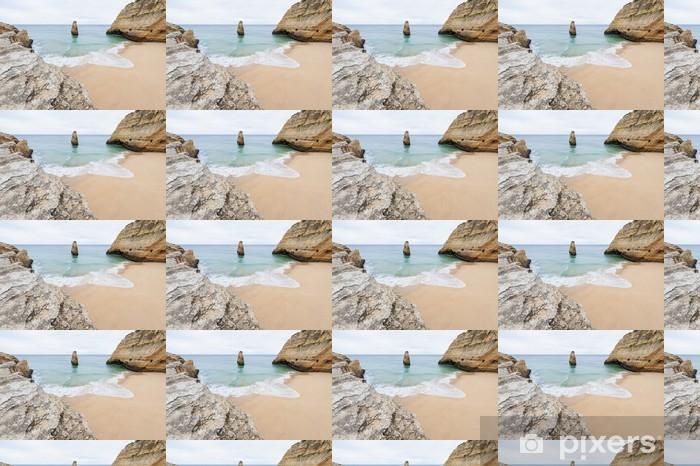 Syrjäinen ranta algarven portugalissa Räätälöity vinyylitapetti - Eurooppa