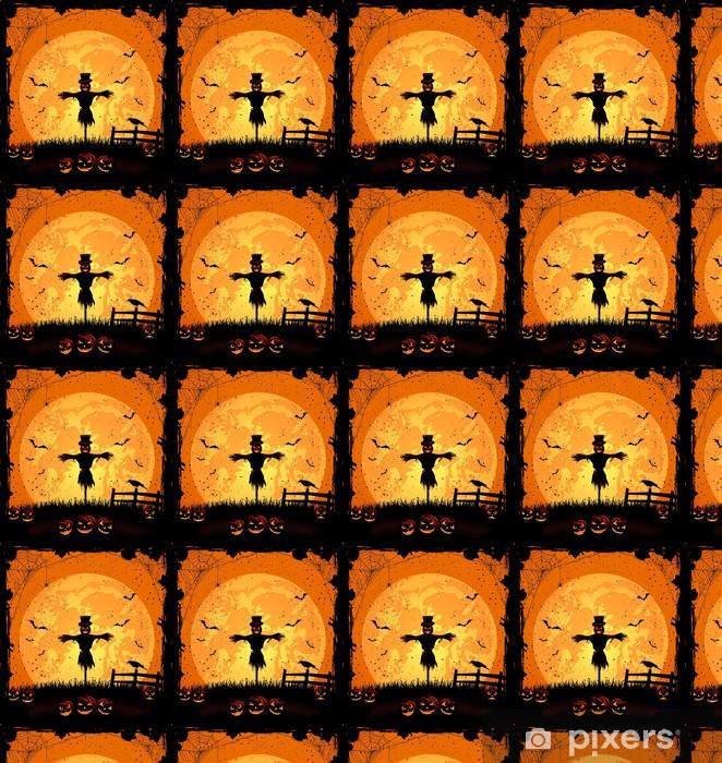 Vinylová tapeta na míru Halloween pozadí s Strašák - Mezinárodní svátky