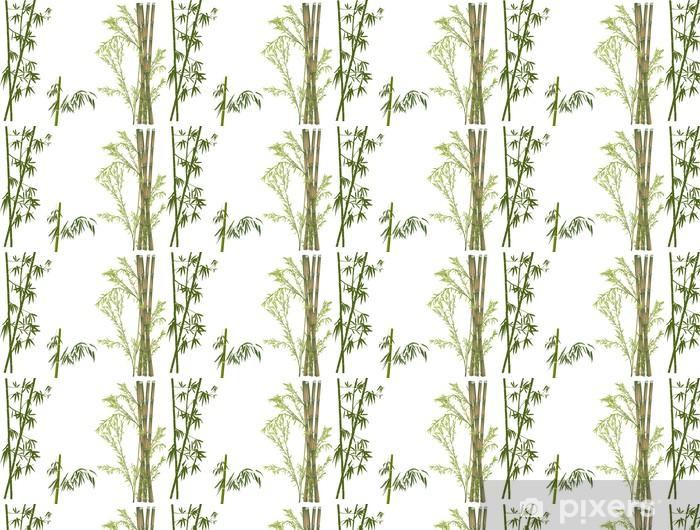 Papier peint vinyle sur mesure Branches de bambou vert isolées - Styles