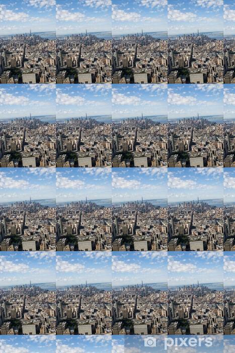 Papier peint vinyle sur mesure Vue aereal de new york city - Villes américaines
