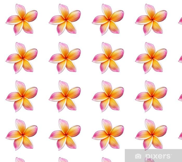 Papier peint vinyle sur mesure Floraison jaune Plumeria (frangipanier) - avec le chemin de détourage - Fleurs