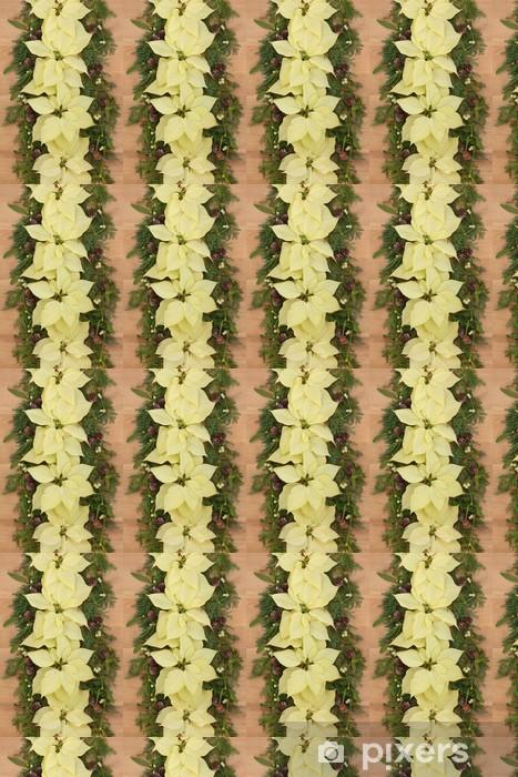 Carta da parati in vinile su misura Poinsettia fiore di frontiera - Feste Internazionali
