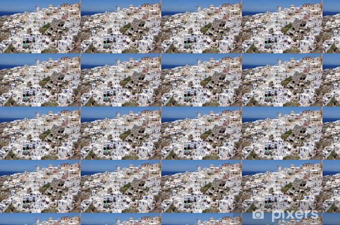 Vinylová tapeta na míru Häuser und Felshöhlen v Oia / Insel Santorin - Prázdniny