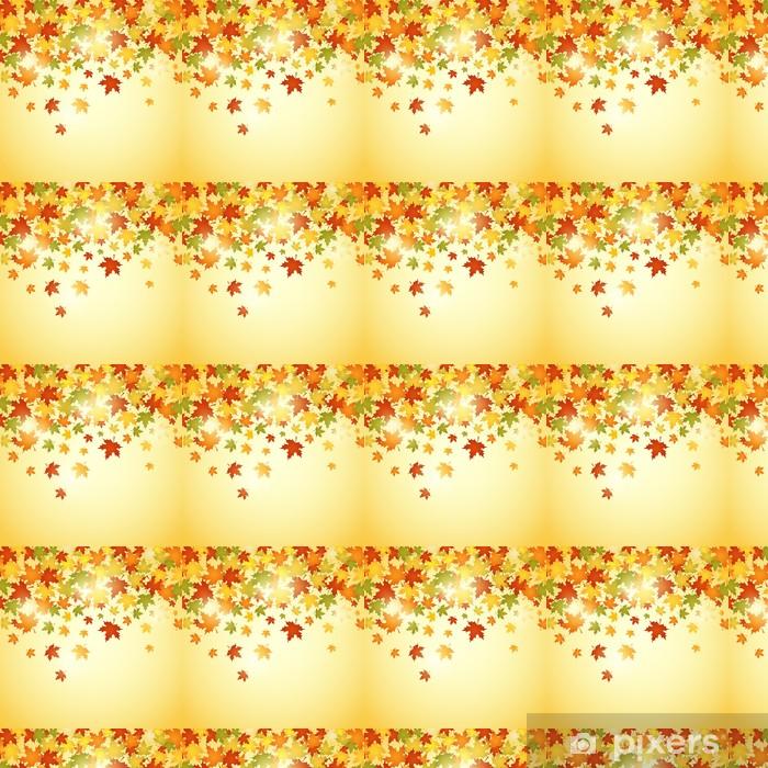 Tapeta na wymiar winylowa Jesienią tła z liśćmi. Ilustracja wektorowa - Kwiaty