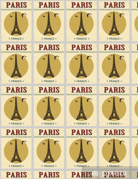 Tapeta na wymiar winylowa Wieża Eiffla w Paryżu wieża z plakatu - Miasta europejskie