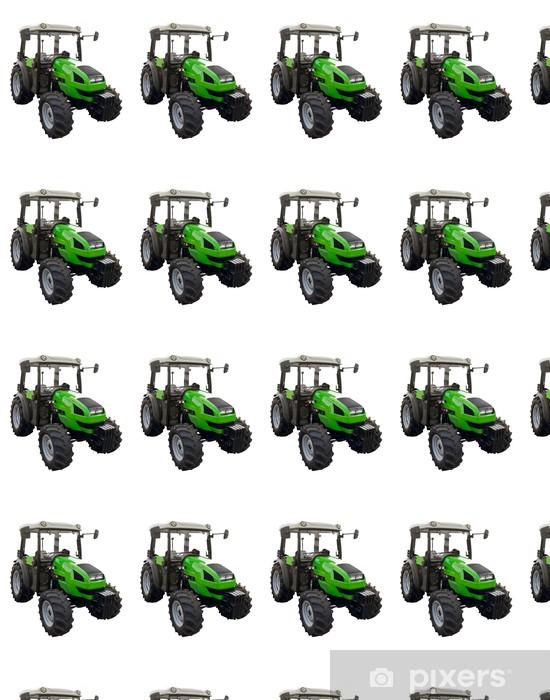 Papier peint vinyle sur mesure Petit tracteur vert - Sticker mural