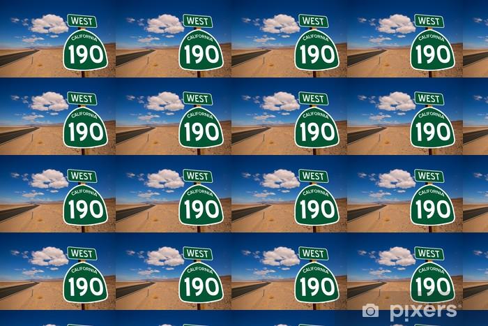 Tapeta na wymiar winylowa Desert Route 190 Śmierć Hwy Dolina California znak drogowy - Ameryka