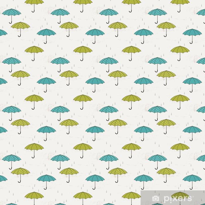 Vinylová tapeta na míru Podzimní bezešvé vzor s deštníky - Roční období