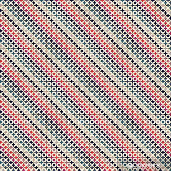 Spesialtilpasset vinyltapet Sømløse sirkler bakgrunn tekstur - Styles