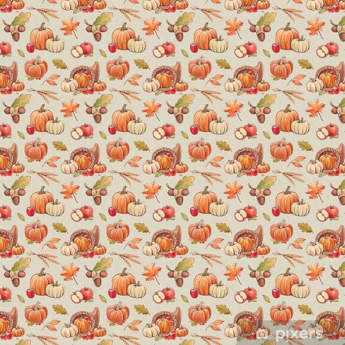 Tapeta na wymiar winylowa Jesień wzór z ilustracjami zbiorów - Krajobrazy