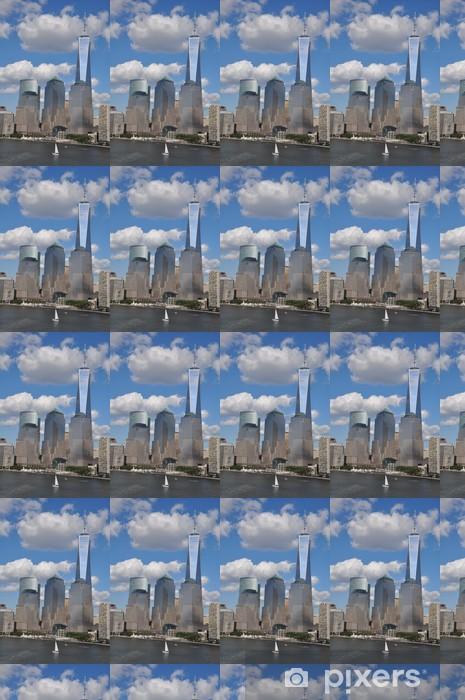 Tapeta na wymiar winylowa Niższe Manhattan z jednego światowego centrum handlu - Miasta amerykańskie