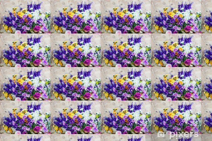 Colorful bouquets Vinyl custom-made wallpaper - Flowers