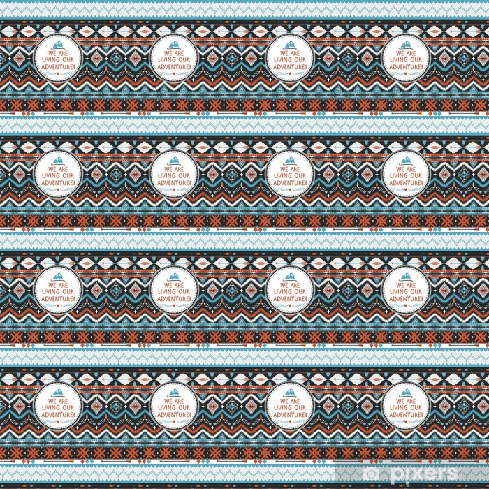 Tapeta na wymiar winylowa Hipster bezproblemową wzór z elementów plemiennych geometryczne - Ameryka