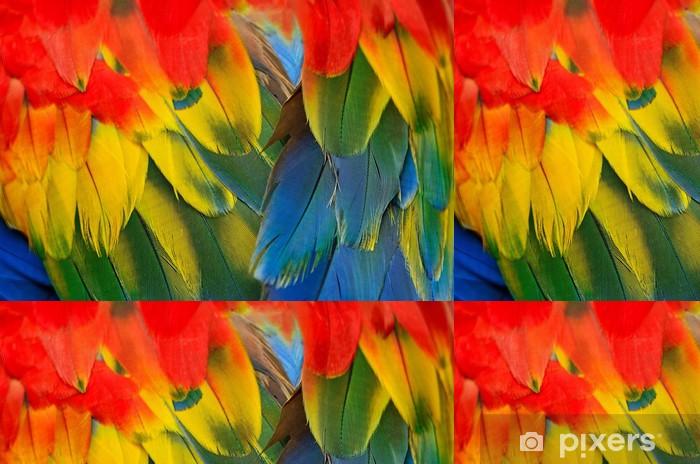 Vinylová Tapeta Scarlet papoušek peří - Surové materiály