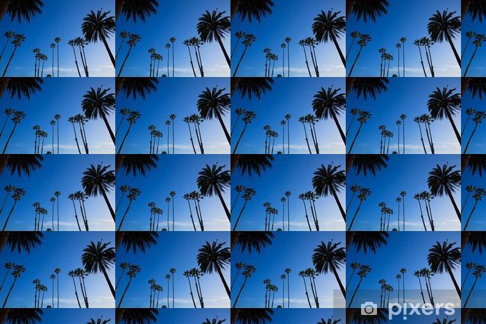 Vinyltapete nach Maß Kalifornien hohen Palmen am blauen Himmel silohuette - Amerikanische Städte