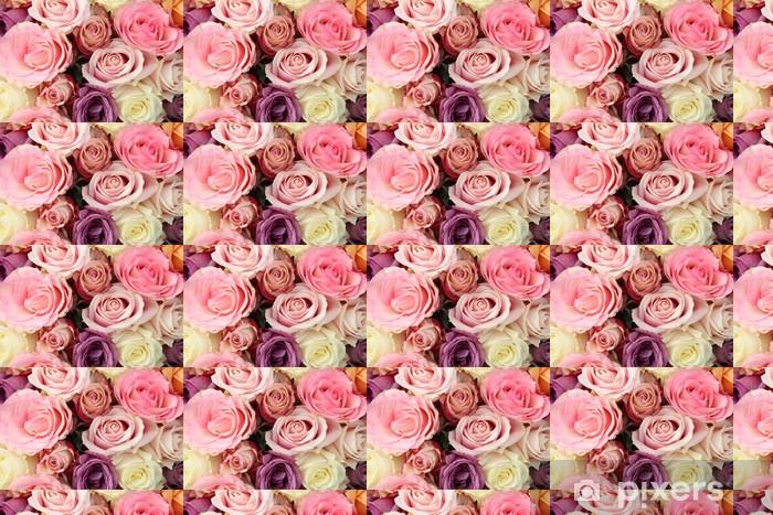 Papier peint vinyle sur mesure Fleurs de mariée dans les tons pastel - Célébrations