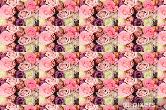 Bridal flowers in pastel shades Vinyl custom-made wallpaper - Celebrations