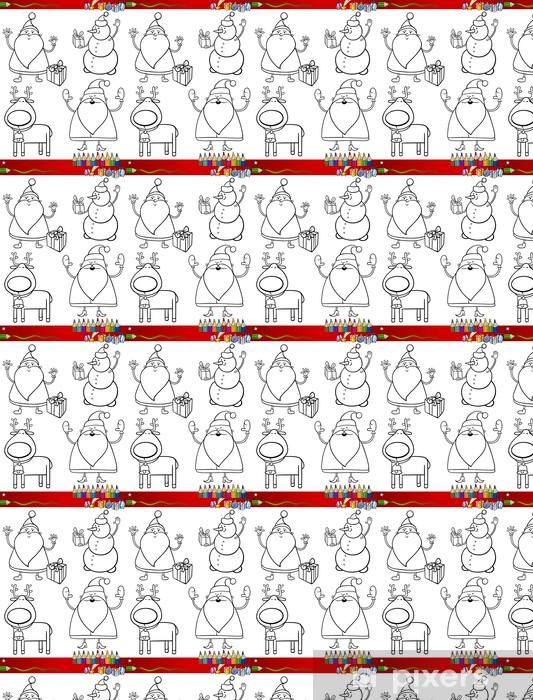 Tapete Cartoon Weihnachten Themen Ausmalbilder Nach Maß