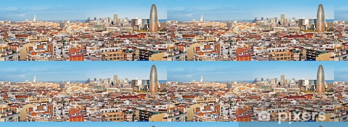 Panorama of Barcelona with the Torre Agbar Vinyl Wallpaper - Themes