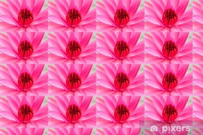Papier peint vinyle sur mesure Rose nénuphar - Fleurs