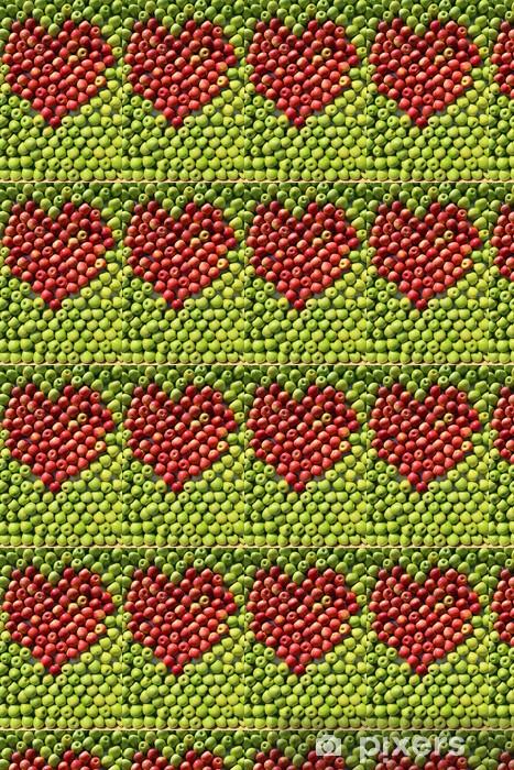 Papier peint vinyle sur mesure Pommes rouges et vertes. - Vente