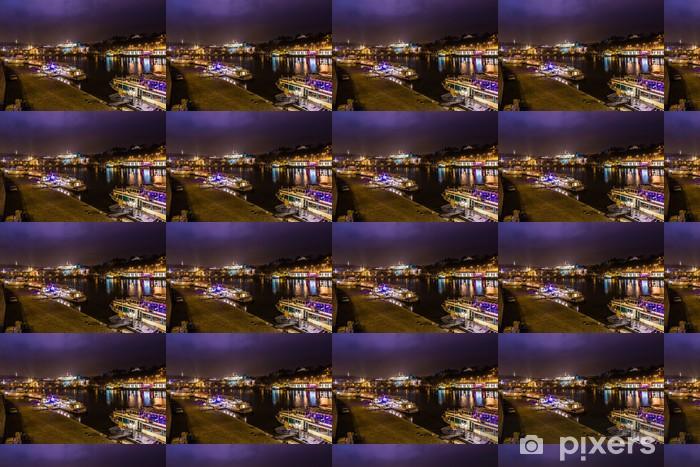 Night landscape in Prague Vinyl custom-made wallpaper - European Cities