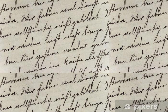 Vinyltapet Historisches Schriftbild auf Büttenpapier - Tegn og Symboler