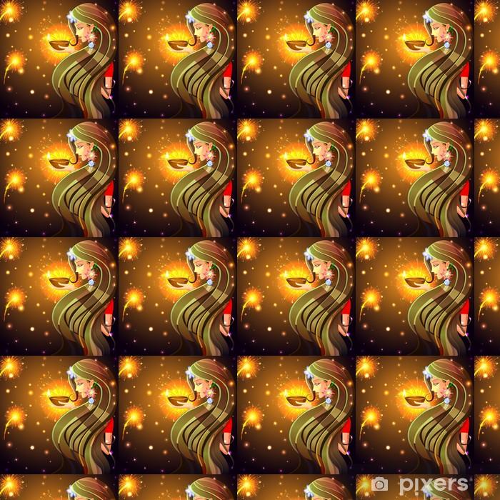 Tapeta na wymiar winylowa Wszystkiego najlepszego z okazji Diwali kobiety pragnące - Budynki użyteczności publicznej
