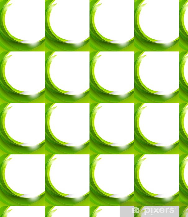 Papier peint vinyle sur mesure Résumé fond vert - Abstrait
