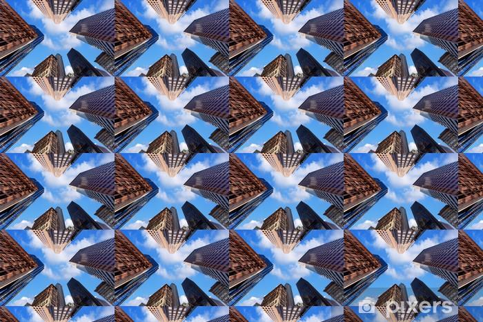 Papier peint vinyle sur mesure Gratte-ciel au centre-ville - Thèmes