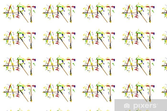 Papier peint vinyle sur mesure Peinture et painbrushes peints mot art - Art et création